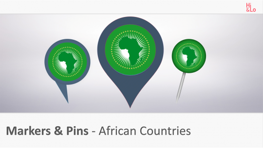 Markers & Pins African Countries