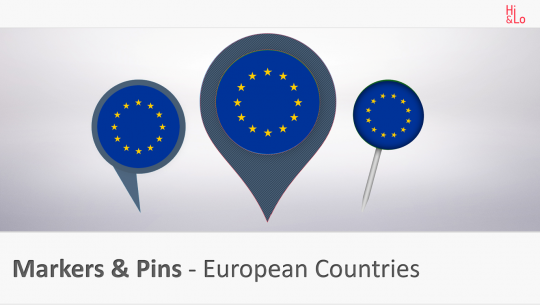 Markers & Pins European Countries