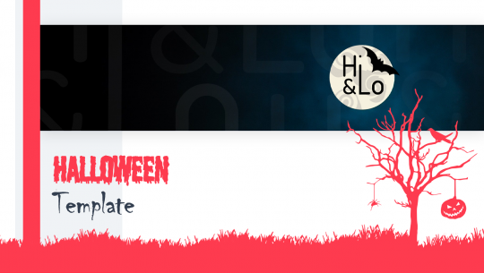 Animierte Halloween Vorlage