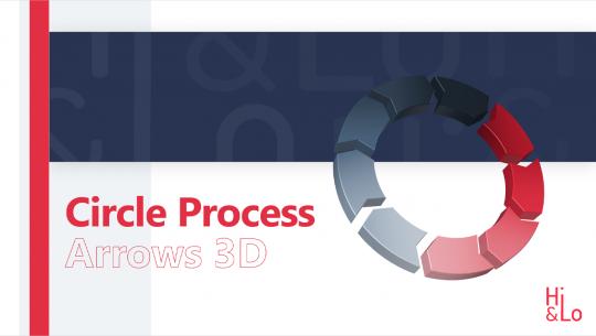 Circle Process Arrows 3D
